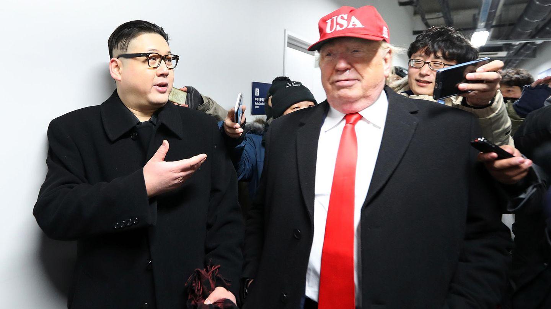 Imitatoren von Donald Trump and Kim Jong Un