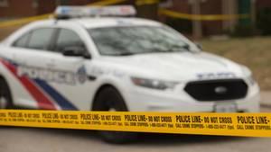 Ein Polizeiwagen in Kanada