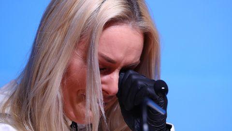 Lindsey Vonn bricht in Tränen aus