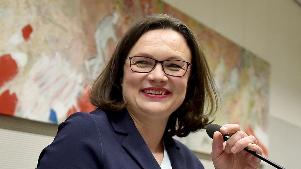 Andrea Nahles greift nach der SPD-Führung.