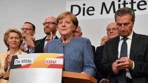 Angela Merkel (Mitte) und weitere CDU-Politiker