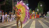 Die mit Federn geschmückten Tänzerinnen zeigen bekanntlich viel Haut.