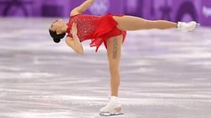 Olympia 2018 - US-Eiskunstlaufstart Mirai Nagasu hat ein patriotisches Tattoo - doch es ist nur ein Tape