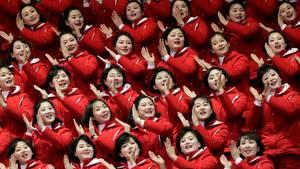 Nordkorea Cheerleader Olympia