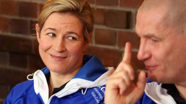 Sportler-Paare bei Olympia 2018: Claudia Pechstein und Matthias Große in Pyeongchang