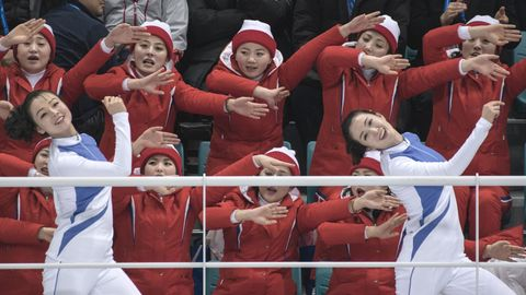 Cheerleader Nordkoreas bei Olympia