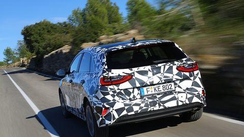Prototypenfahrt im Kia Ceed 2018