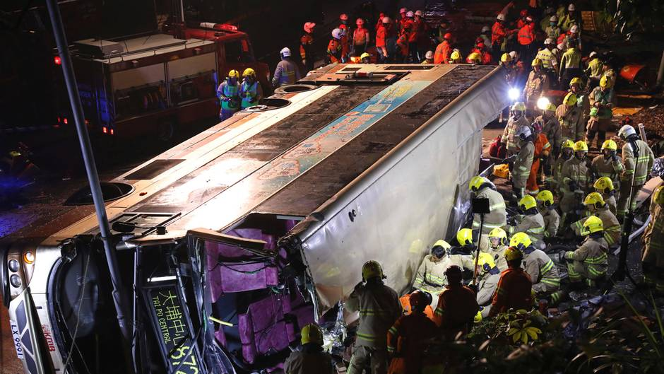 Hongkong Busunglück Unfall