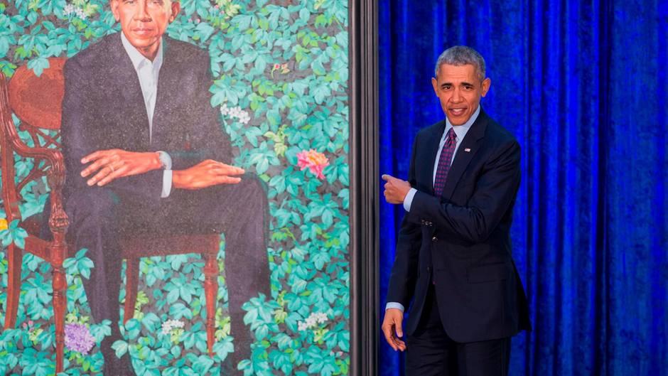 """Porträt-Enthüllung in Washington: Barack Obama: """"Ziemlich scharf"""" - Internet: """"Wie Homer Simpson"""""""