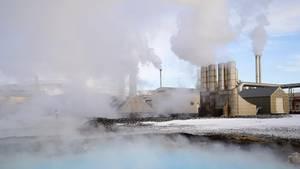 Erdwärme-Kraftwerk in Island