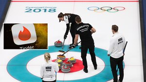Olympische Winterspiele 2018: Zwei Teams treten gegeneinander im Curling an
