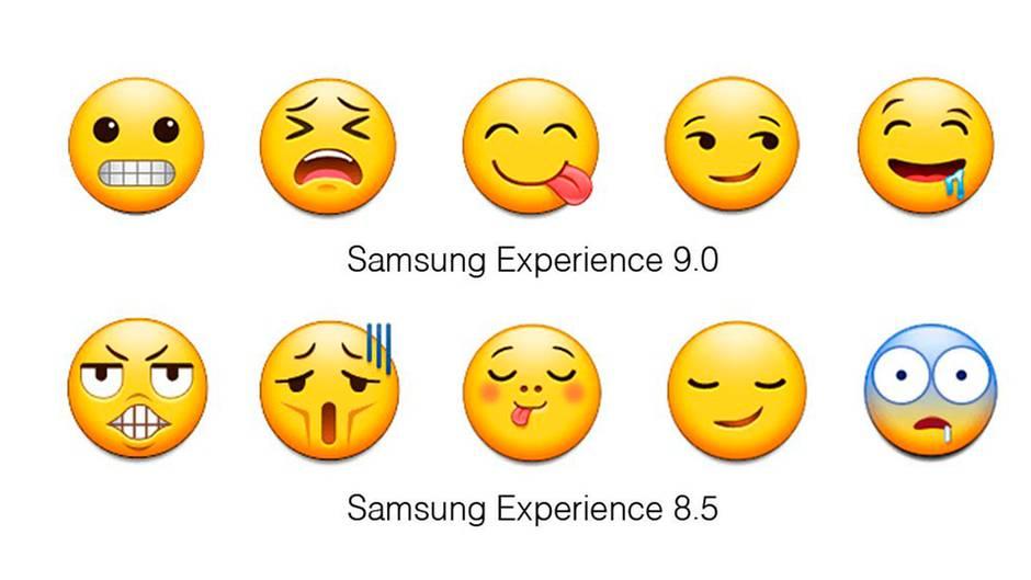 Im Vergleich mit den Emoji der anderen Hersteller tanzten Samsungs aus der Reihe
