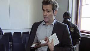 Adrian Ursache (43) am 12.02.2018 beim Prozess vor dem Landgericht Halle (Saale).