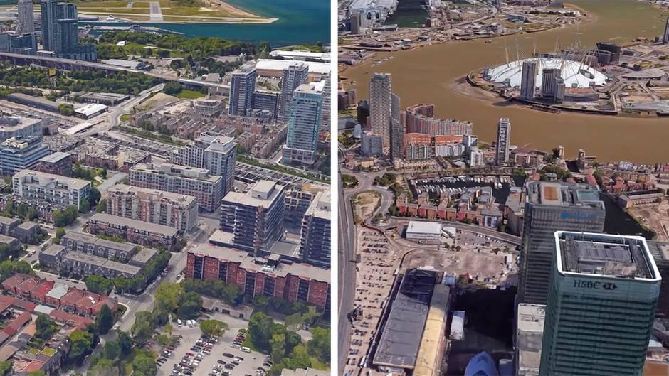 Quiz für Vielflieger: London oder Frankfurt? Erkennen Sie diese Städte aus der Luft?
