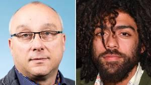 Jens Maier (l.), Mitglied der AfD Bundestagsfraktion, und Noah Becker