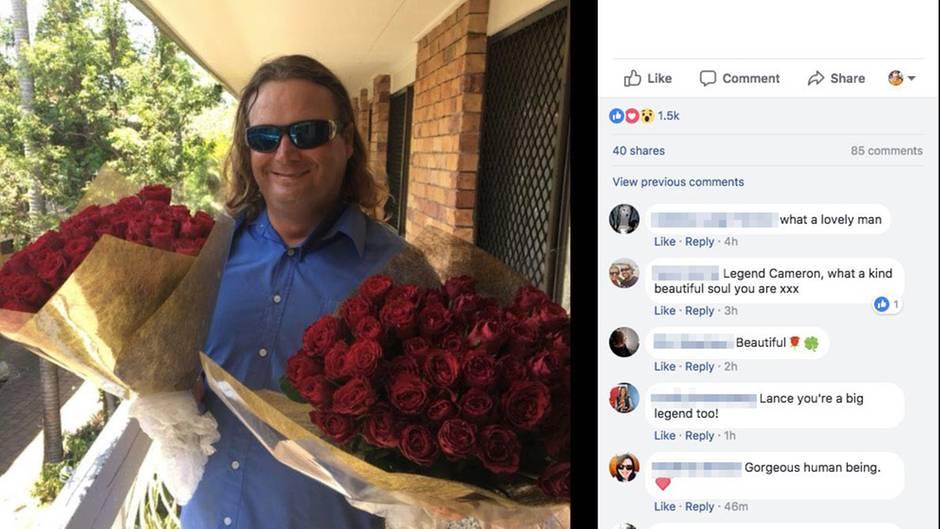 Obdachloser Australier verschenkt zum Valentinstag Rosen