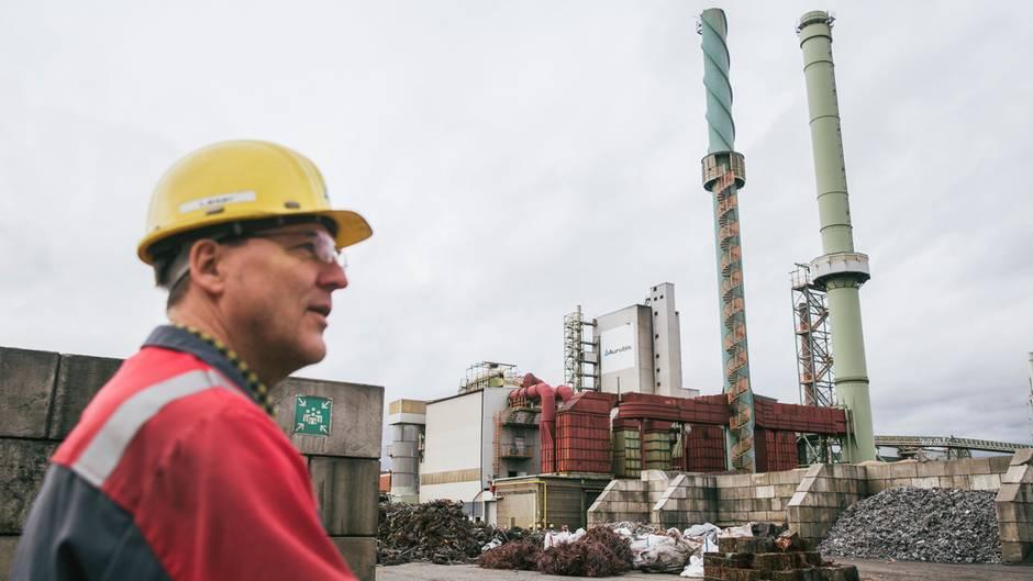 Aurubis in Lünen ist eine der größten Kupfer-Recyclinganlagen der Welt.