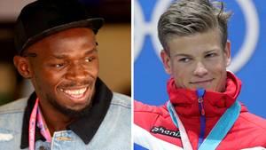 Usain Bolt (links) und Johannes Kläbo - Kommt es nach Olympia zu einem Duell im Central Park