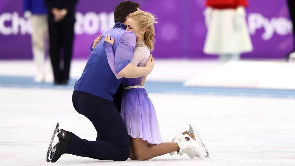 Savchenko/Massot gewinnen mit Weltrekordkür doch noch Gold im Eiskunstlauf