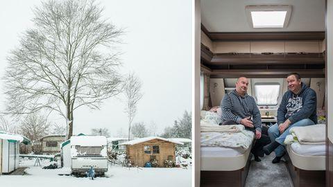 Camping im Winter: Sie leben den Traum vom einfachen Leben