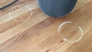 Apples HomePod kann mit Holzoberflächen reagieren