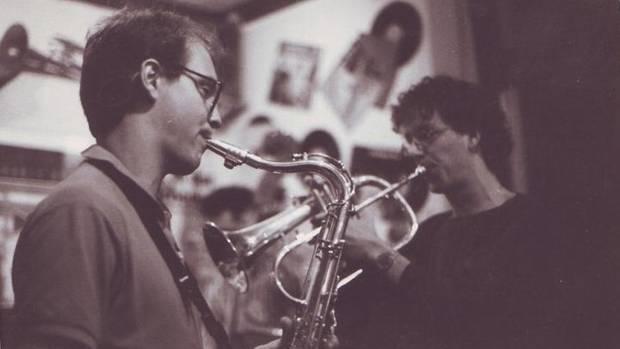 Noch alles in Ordnung: Ende der 80er Jahre spielte Gauger (l.) leidenschaftlich Saxofon