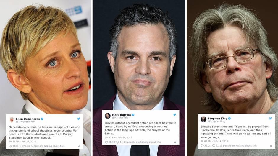 """Reaktionen auf Florida-Amoklauf: Hollywoods scharfer Angriff auf Trumps """"rechte Konsorten"""" und die Waffenlobby"""