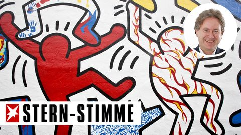 "Ausschnitt aus Keith Harings Wandbild ""We The Youth"""