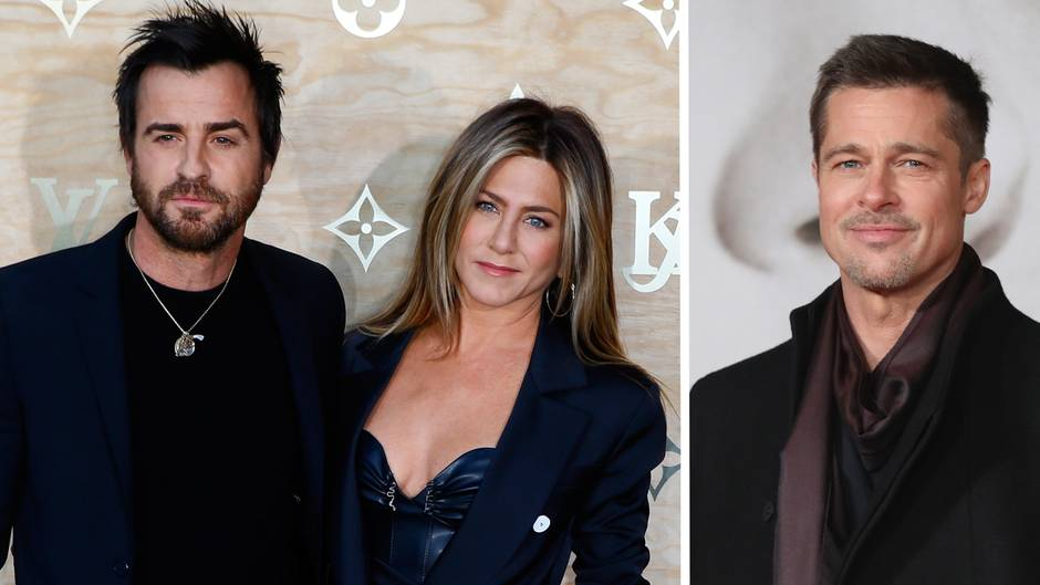 Jennifer Aniston, Justin Theroux, Brad Pitt