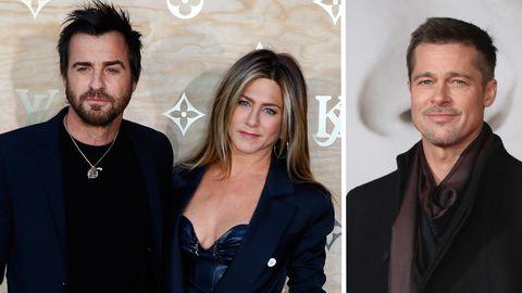 Jennifer Aniston, Justin Theroux, Brad Pitt