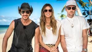 """Germany's Next Topmodel"" 2018 mit Thomas Hayo, Heidi Klum und Michael Michalsky"