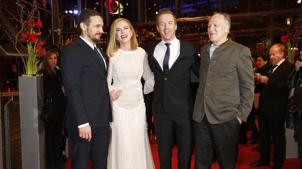 """James Franco, Nicole Kidman, Damian Lewis und Werner Herzog auf der Premiere von """"Königin der Wüste"""" bei den Berliner Filmfestspielen 2015"""