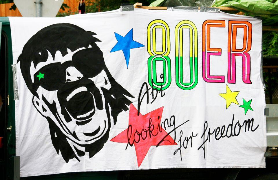 Plakat mit David Hasselhoff: Looking for Freedom