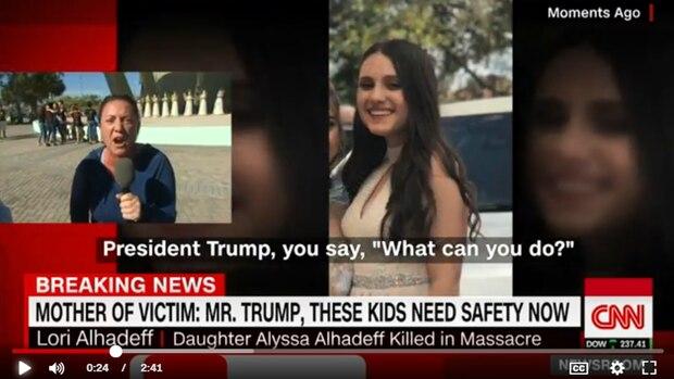 Lori Alhadeff richtet beim Fernsehsender CNN einen emotionalen Aufruf an Donald Trump