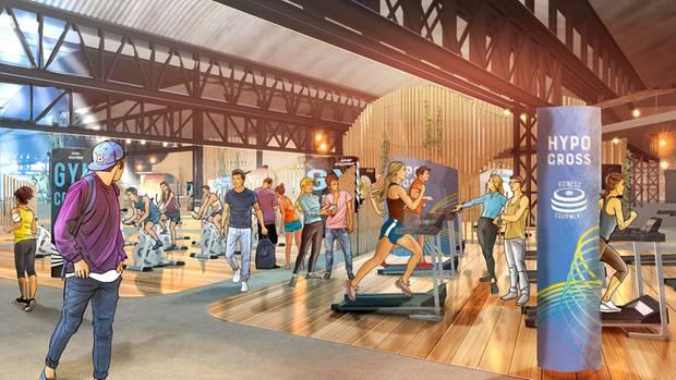So ähnlich soll es im Fitnesszentrum der Zukunft einmal aussehen