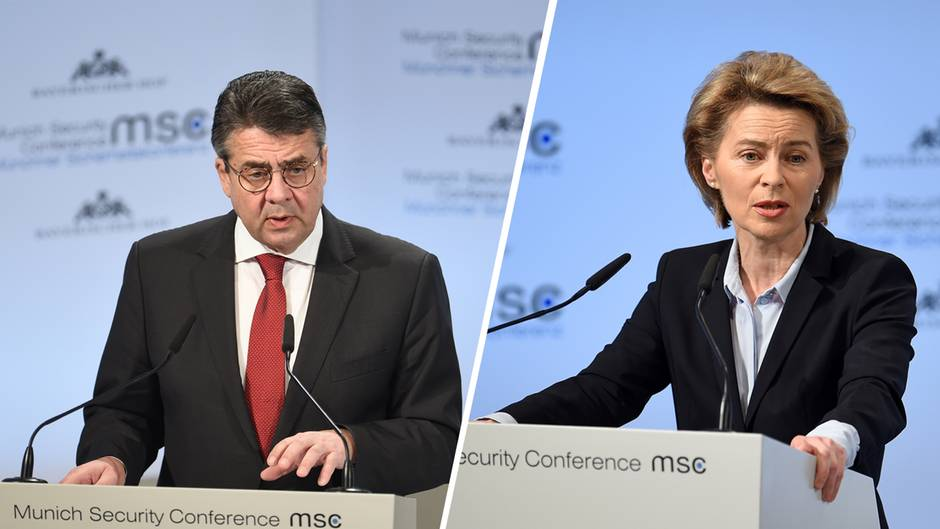 Sigmar Gabriel und Ursula von der Leyen