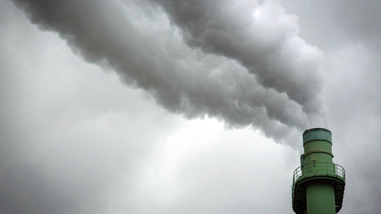 Rauch aus der Müllverbrennungsanlage