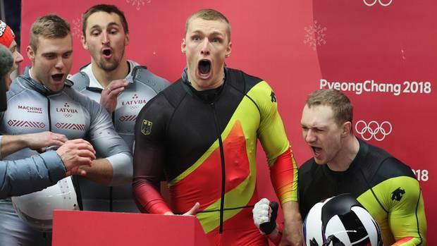 Francesco Friedrich und Thorsten Margis gewinnen Olympia-Gold im Zweierbob in Pyeongchang