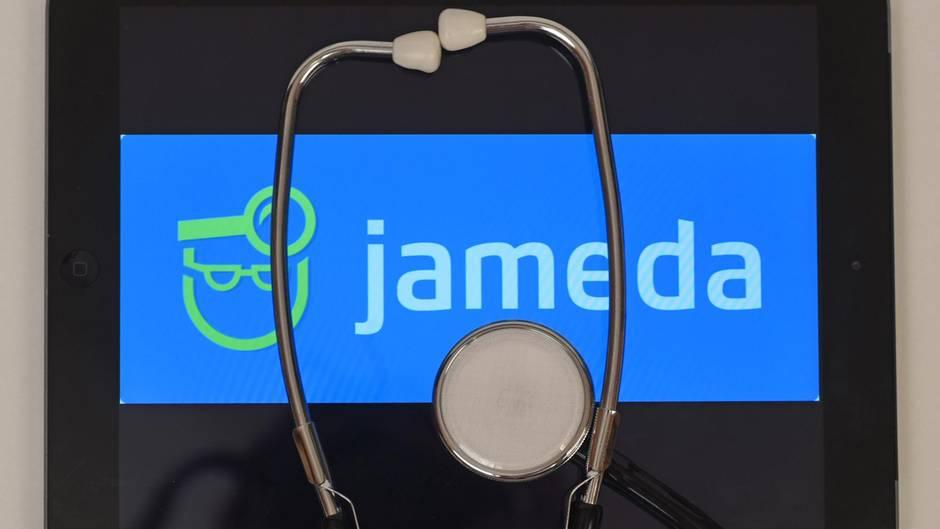 Gerichtsurteil gegen Jameda (Ärzte-Bewertungs-Portal): Das Jameda-Logo auf einem Tablet.