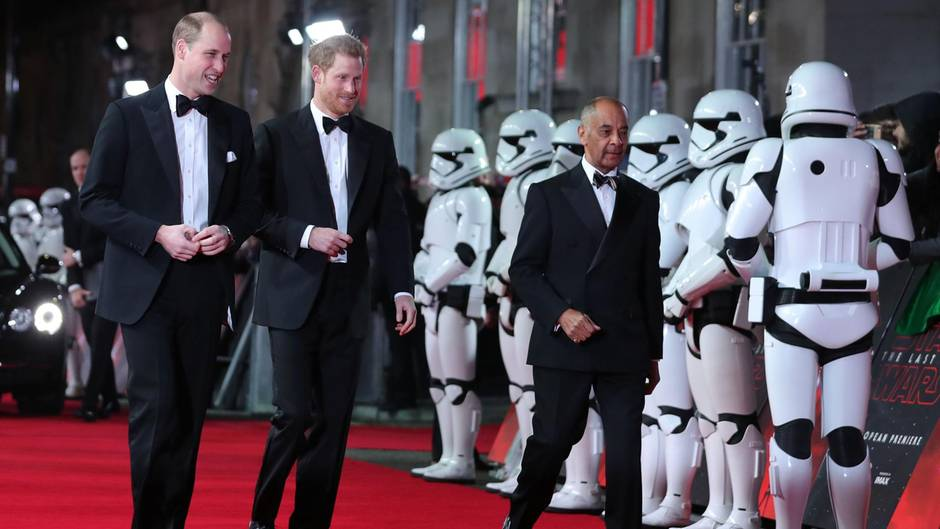 "Prinz William und Prinz Harry bei ""Star Wars"""