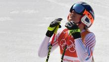 US-Superstar Lindsey Vonn war mit dem dritten Rang nur bedingt zufrieden