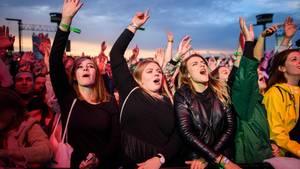 Line-up beim Lollapalooza Festival 2018: Festivalbesucher jubeln beim Lollapalooza 2017