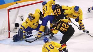 Eishockey: Deutschland liefert Weltmeister Schweden bei Olympia 2018 einen großen Kampf