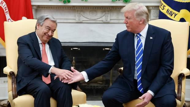 António Guterres mit Donald Trump im Oval Office