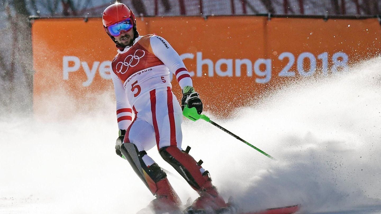 Schluss, aus, vorbei: Marcel Hirscher kommt im Olympia-Slalom nicht ins Ziel