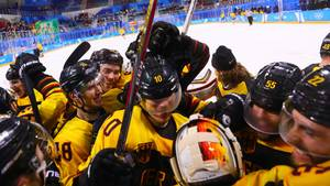 Jubel des Eishockey-Teams bei Olympia 2018 in Pyeongchang - ARD/ZDF bringen Emotionen nur mäßig rüber