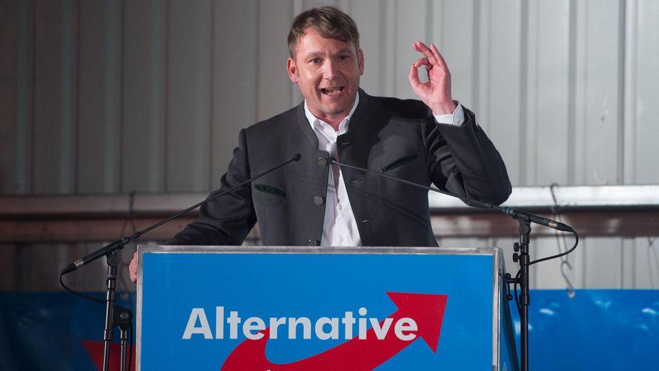 AfD-Politiker Poggenburg am Aschermittwoch