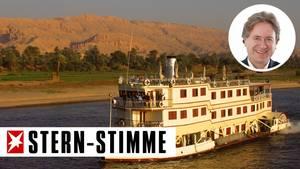 Kreuzfahrtschiff auf dem Nil