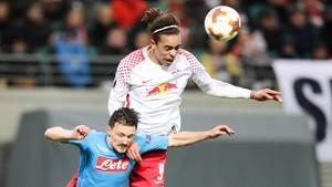 Europa League: Für RB Leipzig reicht eine 0:2-Heimniederlage gegen Neapel dank des Hinspielsieges für das Achtelfinale