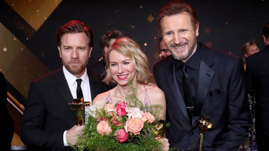 "Ewan McGregor, Naomi Watts, Liam Neeson bei der ""Goldenen Kamera"""